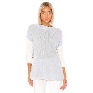 Lovers + Friends Dalton Sweater in Grey & White